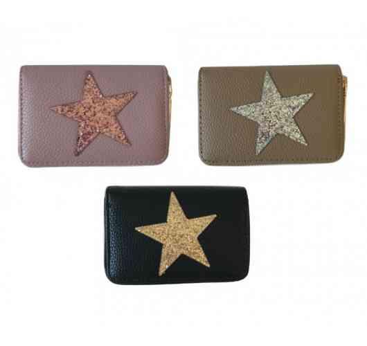 Glitter star purse - Wallet carries cards
