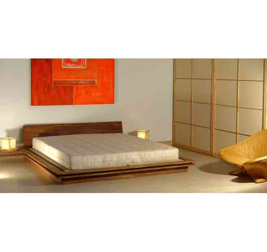 Beds japonese style - Beds not high made entirely from solid finger joint beech wood with tatamis