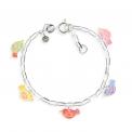 Chain bracelet birds, silver 925 - <p>Adjustable birds bracelet in silver and resin.</p>
