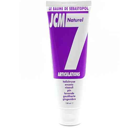 JCM 7 - Relieves joint and muscle pain. JCM7 cream is composed of 7 essential oils. Which by their synergy will bring ease, a mobility that allows you to move without restraint, without painful hindrance. The result will be fast and durable on your muscles, tendons and joints.