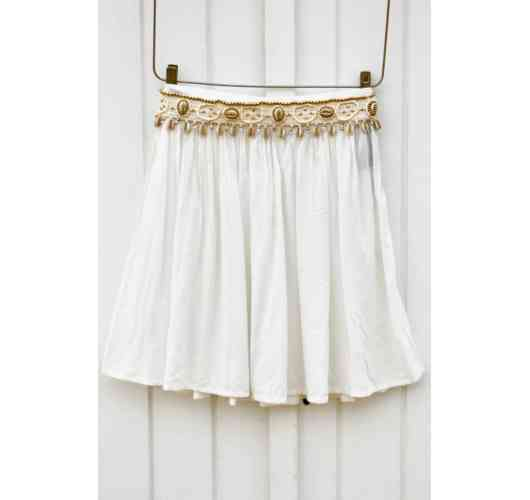 Jupette Indi Off white - 100 % Viscose  Available in size : s/m - l/xl