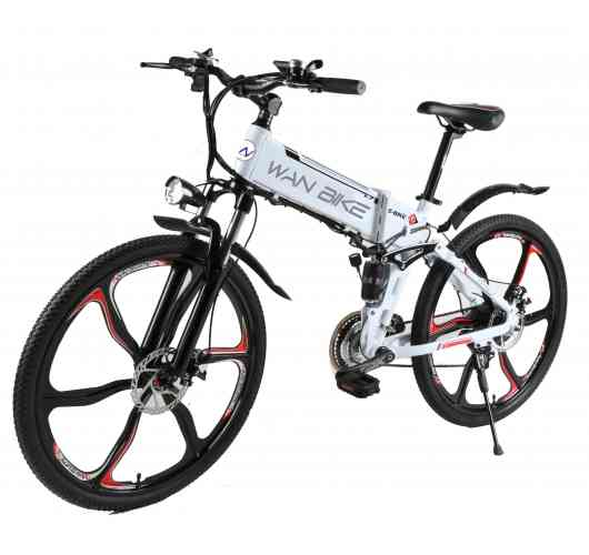 Electric Mountain Bike Foldable CINYO White