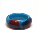 Bracelet en bois - <p>Handmade wooden bracelet, painted and protected with clear and shiny resin.Alfonso Mendoça</p>