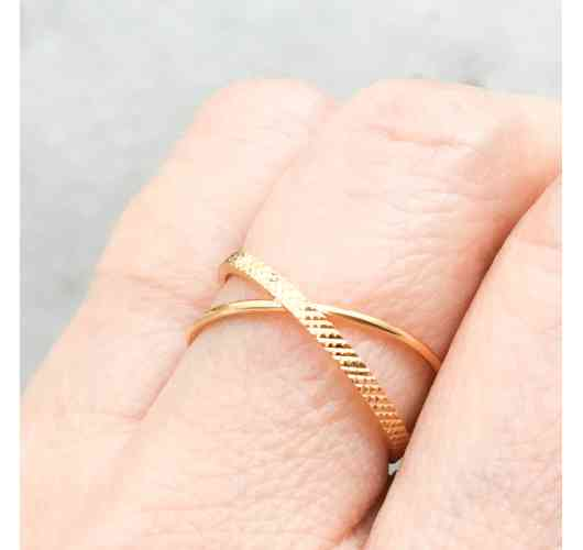 TWINS Ring - Gold plated Ring