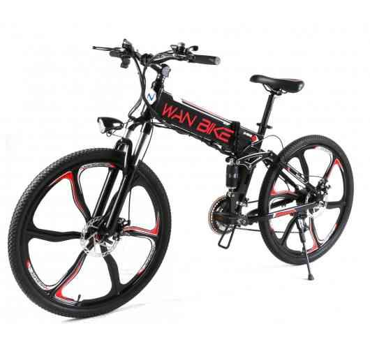 Electric Mountain Bike Foldable CINYO Black