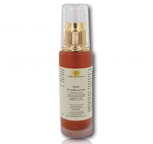 OIL OF MILLEPERTUIS - Calming, soothing cutaneous - restores ease and flexibility to your joints   The oily macerate of St. John's wort Raillon de Jouvence is obtained by maceration of fresh flowering tops in organic olive oil. It is dark red in color.