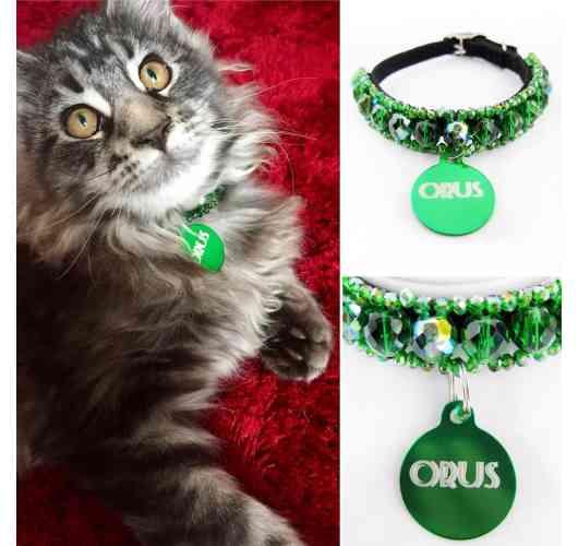 KFarah Kitty || Orus - Kitty Necklace 100% handmade in glass pearls.