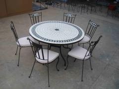 TABLE MOSAIQUE - AMEUBLEMENT - LITERIE - LUMINAIRE