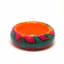 Wooden bracelet - <p>Handmade wooden bracelet, painted and protected with clear resin. Alfonso Mendoça</p>