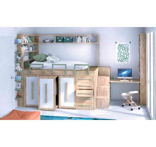 Space saving beds - High bed means to reclaim space for storage