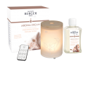 Aroma Mist Diffuser - With its Scandinavian style inspiration, this Aroma Relax Mist Diffuser will fit perfectly into your interior. The pure white of the frosted glass is in contrast to the more rugged appearance of the wood, while the shine of the flowers, sublimated by the rays of light, add a touch of feminine elegance.