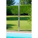 INOX SQUARE - <p>INOX SQUARE is a 100mm x 50mm rectangular brushed stainless steel shower. This wonderfully contemporary design will delight anybody who loves sleek, clean luxury. The brushed finish highlights the natural color and reflective qualities of the stainless steel. A stainless steel frame provides a wonderful contrast with the wood or stone, elegantly reflecting the effect produced by contemporary architecture. We have chosen to use a high-quality 316L stainless steel for this unit, which is designed to withstand bad weather at sea and prevent any risk of localized corrosion.</p> <p><strong>Optional fittings</strong><br />Equipment for hot and cold 2 faucets<br />Equipment with a mixer, simple knob<br />Handshower equipment<br />Contemporary footwah faucet<br />Xflat showerhead Ø 15 cm<br />Square showerhead 20 x 20 cm or 25 x 25 cm<br />Ultra-flat showerhead Ø 30 cm<br />Connection at the back base or underneath</p>