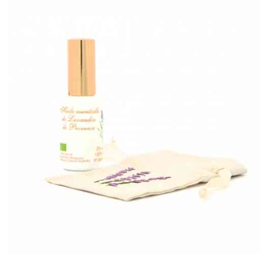"""30ML ORGANIC LAVANDIN GROSSO ESSENTIAL OIL SPRAY - LAVANDULA ANGUSTIFOLIA X LATIFOLIA GROSSO 100% PURE AND NATURAL Spray without gas - Unscrewable cap.  Lavandin is a hybrid from two varieties of wild lavender: """"real"""" lavender and """"aspic"""" or """"spic"""" lavender."""