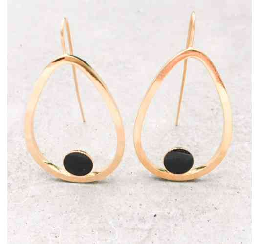 DROP earrings - Gold plated and enamel