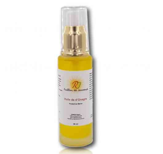 OIL ONAGER - It supports mature skin by providing them with the fatty acids they need. It helps to calm sensitive skin prone to redness and protects against climatic aggressions. It promotes the regeneration of cells, and it is also restructuring by slowing skin aging. It also limits the water loss of cutaneous cells. It improves the dry and rough appearance of the skin.