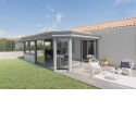 CLASSIK, the veranda with rafters - <p>The CLASSIK verandas collection is characterized by a roof and a work designed cornice dedicated to all types of frames. The simplicity of the CLASSIK's architectural style allows all the decorative atmospheres. To personalize your veranda with its outdoor environment and your interior space, adopt the bicolor, a different interior color from outside. Price: from 1390€ TTC/ m ², installation included.</p>