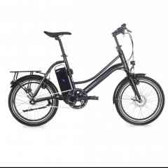 2wenty - A foldable and handy electric bike ! Discover 2wenty, the foldable bike by Momentum Electric. This model is the ideal transport solution if you live in town. Besides, this electric bike perfectly fits in confined environments, which will make it very easy to put aside, even if you live a tiny flat.  A compact electric bike Most owners of foldable bikes almost never fold them. This is why we have created 2WENTY, a compact bike that takes little room. Easy to fold in and out, it allows you to enjoy optimal comfort on a daily basis.  Why call it 2WENTY ? Because this figure corresponds to its 20-inch wheels. Thanks to this urban e-bike model, you can fold in the pedals, lower the saddle at its minimum and bend the handlebars in parallel with the frame. Since it does not take more room than another foldable bike would, the 2WENTY e-bike can be laid against a wall or slid under a bed and sneak in all corners !  The urban electric bike 2wenty is the urban e-bike that adventure seekers and urban dwellers favour. It will easily find its place in a boat, a camper van or a small flat. Perfect to make the most of your bike.  Like all our bikes, 2WENTY is equipped with the AUTORQ electric system, designed by Momentum Electric and comprising a force sensor and a BAFANG front engine. The whole system helps adjust the electric assistance with the force exerted by pedaling. Riding your 2WENTY will therefore be fluid, simple and above all very pleasurable !  2WENTY is equipped with a water-proof SAMSUNG battery and its two AXA keys, as well as a reliable, effective SHIMANO braking system. With its small size and its autonomy up to 65 km (40 miles), 2WENTY guarantees you agile riding for hours!