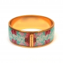 Bracelet émaillé - <p>Bangles gold plated 24K, enamaled by hand. They are decorated of multicolor drawings inspired by the beauty of the Amazonian Jungle. Silp them through your wrist to wear them.</p>