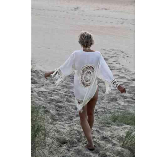 Kimono Crochet Court Off white - 100 % Viscose  Available in size : xs/s - s/m - l/xl
