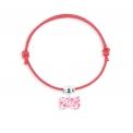 Lace bracelet raspberry bowtie - <p>Adjustable lace bracelet bowtie</p>