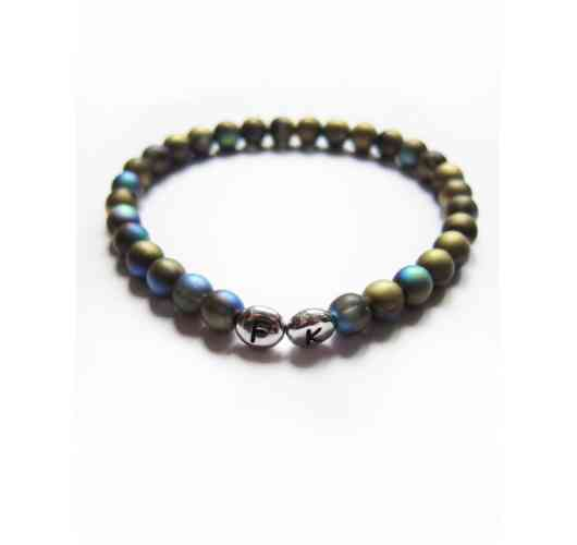 KFarah Man || Bracelet Berle 2 - Bracelet 100% handmade in crystal pearls.