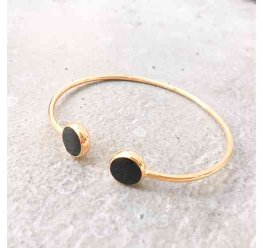 Gaïa Bangle Black enamel