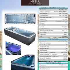 swim spa Nisia - swim spa bi zone 585 cm x 220 cm x H 130 cm
