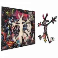 American Dream - Mixed media on aluminium - One of a kind original artwork