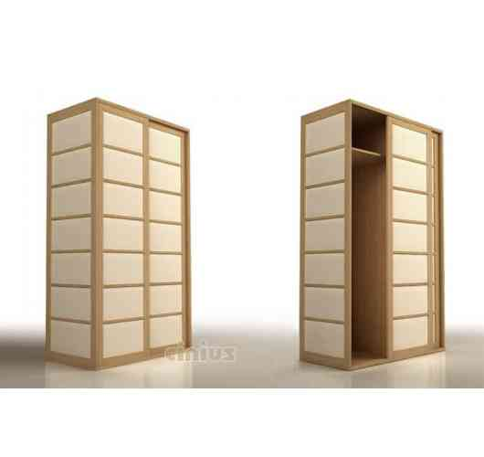 cupboard - solid finger joint beech wood wardrobes with Japanese shoji sliding doors. Cinius wardrobes with sliding doors stem from a desire to take advantage of the ingenious Japanese sliding door (shoji).