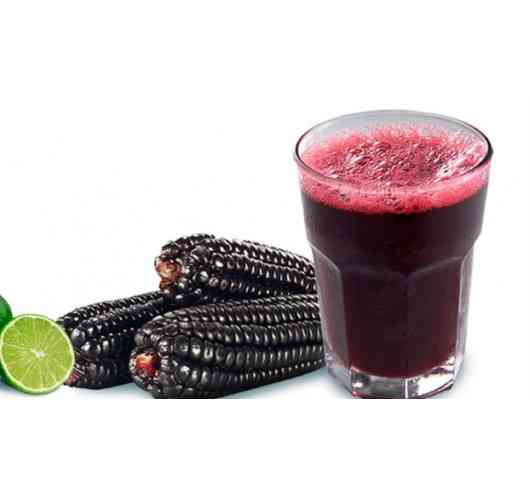 Chicha Morada - The non-alcoholic Chicha Morada is made from purple corn, which grows mainly in the highlands of the Andes. Traditionally, the corn is mixed in water with various fruit peel and spices and cooked until the liquid becomes a dark purple color. It is sieved, refined with lemon juice and sugar and served cold at the end.