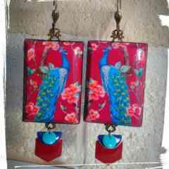 orientalism - peacok earings