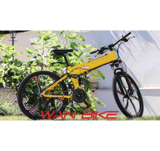 Electric Mountain Bike Foldable CINYO Yellow