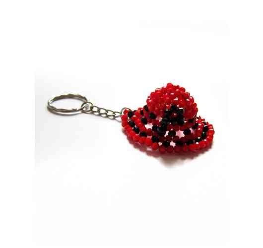 KFarah Femme || Keychain Hat - Keychain 100% handmade in crystal and glass pearls.