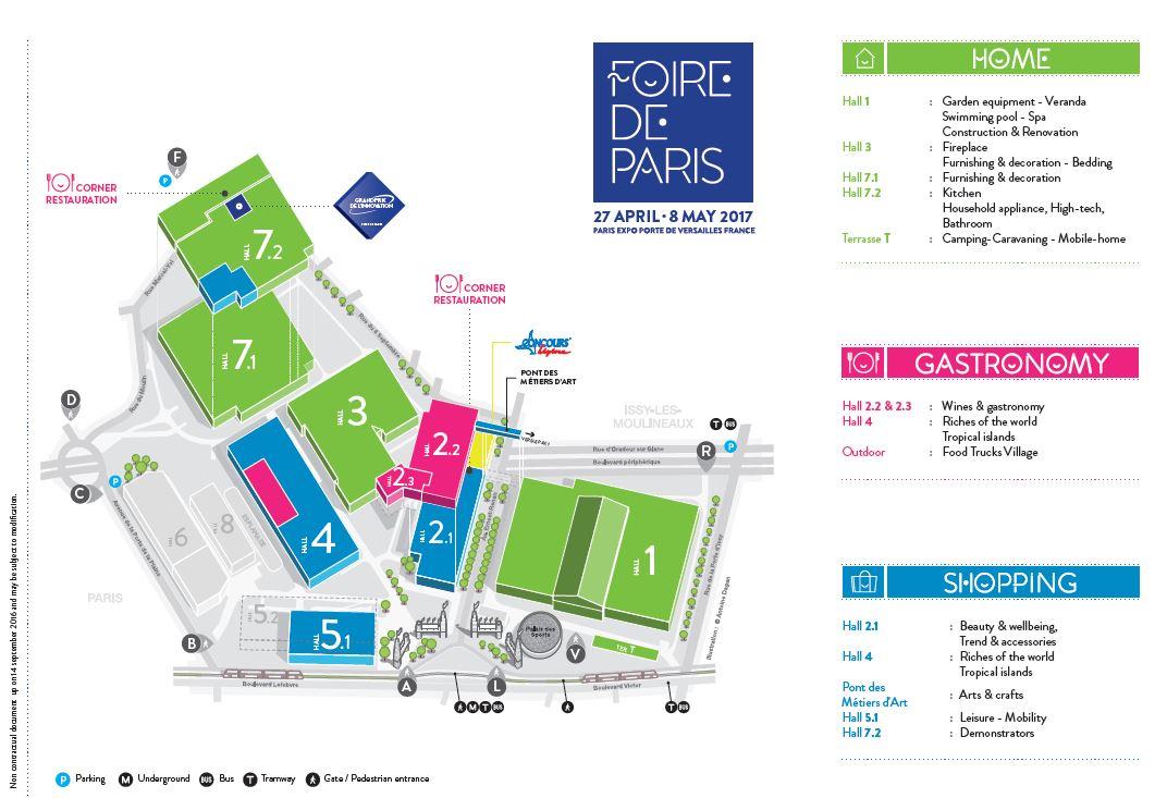 Plan Foire de Paris 2017 UK